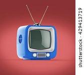 classic design retro tv with... | Shutterstock . vector #429413719