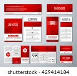 design polygonal banners ... | Shutterstock .eps vector #429414184