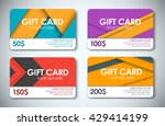 template color gift cards in... | Shutterstock .eps vector #429414199