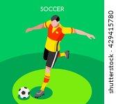 soccer player. athlete football ... | Shutterstock .eps vector #429415780