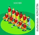 soccer player events. athlete... | Shutterstock .eps vector #429415786
