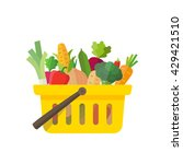 shopping basket full of... | Shutterstock .eps vector #429421510