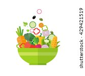 salad bowl   healthy food ... | Shutterstock .eps vector #429421519