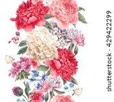 vintage vector floral seamless...   Shutterstock .eps vector #429422299
