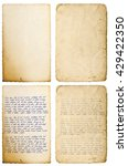 old paper sheets with edges... | Shutterstock . vector #429422350
