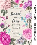 vintage watercolor floral... | Shutterstock .eps vector #429422353