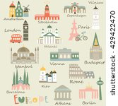 vector illustrations of europe... | Shutterstock .eps vector #429422470