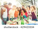 group of friends having fun at... | Shutterstock . vector #429423334