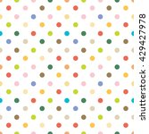color tone seamless dot pattern. | Shutterstock .eps vector #429427978