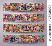 cartoon colorful vector hand... | Shutterstock .eps vector #429428074