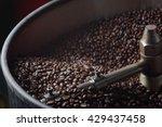 roasted coffee in coffee roaster | Shutterstock . vector #429437458
