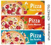 set of banners for theme pizza... | Shutterstock .eps vector #429442750