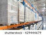 huge distribution warehouse... | Shutterstock . vector #429444679