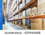 huge distribution warehouse... | Shutterstock . vector #429444688