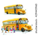 Children Get On School Bus...