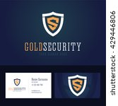 gold security logo and business ... | Shutterstock .eps vector #429446806