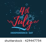 fourth of july  united stated... | Shutterstock .eps vector #429447754