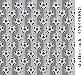 soccer ball with soccer field... | Shutterstock .eps vector #429449890
