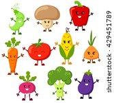 cartoon vegetable characters.... | Shutterstock .eps vector #429451789