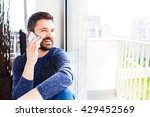 businessman working from home ... | Shutterstock . vector #429452569