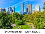 view of central park in a sunny ... | Shutterstock . vector #429458278