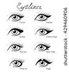 types of eye makeup. cat...   Shutterstock .eps vector #429460906