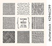 hand drawn textures and brushes.... | Shutterstock .eps vector #429461299