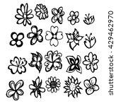 set of flower doodles   Shutterstock .eps vector #429462970