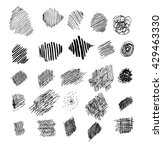 set of sketch textures | Shutterstock .eps vector #429463330