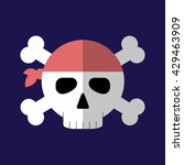 jolly roger flat icon isolated...   Shutterstock .eps vector #429463909