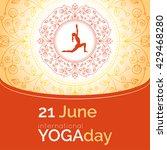vector yoga illustration.... | Shutterstock .eps vector #429468280