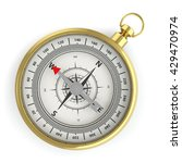 compass isolated on white... | Shutterstock . vector #429470974