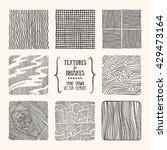 hand drawn textures and brushes.... | Shutterstock .eps vector #429473164