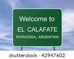 welcome sign to  el calafate in ... | Shutterstock . vector #42947602