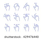 gesture touch icons. clean and... | Shutterstock .eps vector #429476440