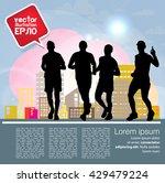 sport background  marathon... | Shutterstock .eps vector #429479224