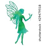 hand paint fairy holding a... | Shutterstock .eps vector #429479518