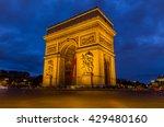arc de triomphe in paris ...   Shutterstock . vector #429480160