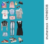 vector set with fashion and... | Shutterstock .eps vector #429480538