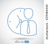 line icon    time management   Shutterstock .eps vector #429484444