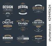 retro creative vintage labels...   Shutterstock .eps vector #429490624