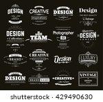 retro creative vintage labels... | Shutterstock .eps vector #429490630