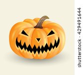 scary halloween pumpkin... | Shutterstock . vector #429491644