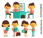 set of characters in a flat... | Shutterstock .eps vector #429503800