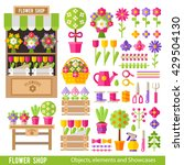 vector set of flowers and... | Shutterstock .eps vector #429504130