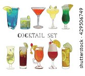 vector illustration of cocktail ... | Shutterstock .eps vector #429506749