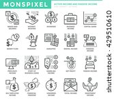 flat thin line icons set of... | Shutterstock .eps vector #429510610