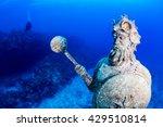 Underwater Statue With...