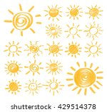 set of vector sun symbols hand... | Shutterstock .eps vector #429514378
