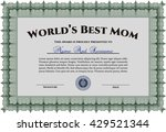 best mom award. with quality...   Shutterstock .eps vector #429521344